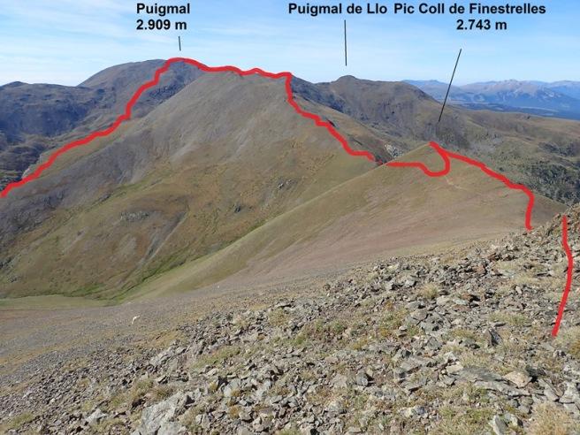 Vista enrere des del Finestrelles al Puigmal