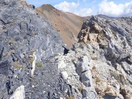 Afloraments de marbre al Serrat del Mig